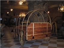 This is a custom built log chuck wagon.