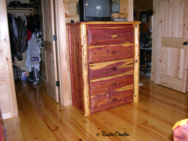 handmade, rustic, knob bed, cedar furniture, lodge, log cabin