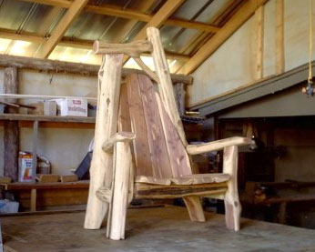 Rustic Throne, Custom Made Rustic Furniture